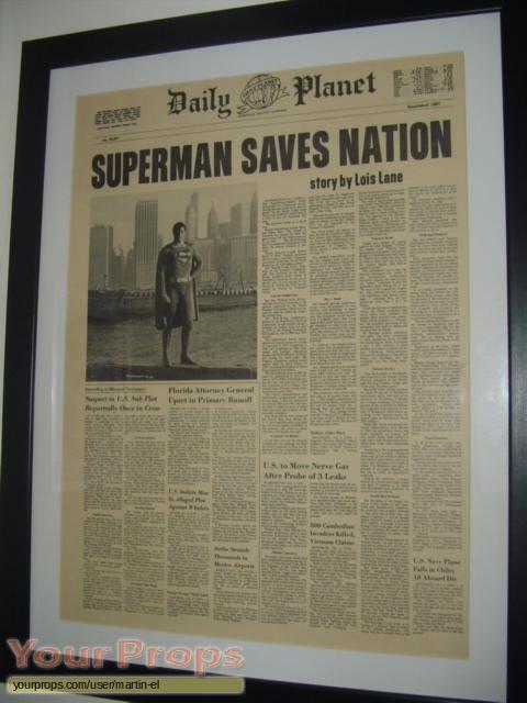 Superman IV  The Quest For Peace original movie prop