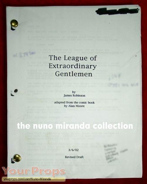 The League of Extraordinary Gentlemen original production material