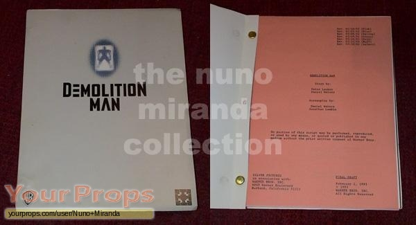 Demolition Man original production material