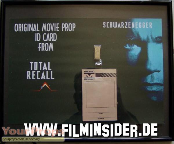 Total Recall original movie prop