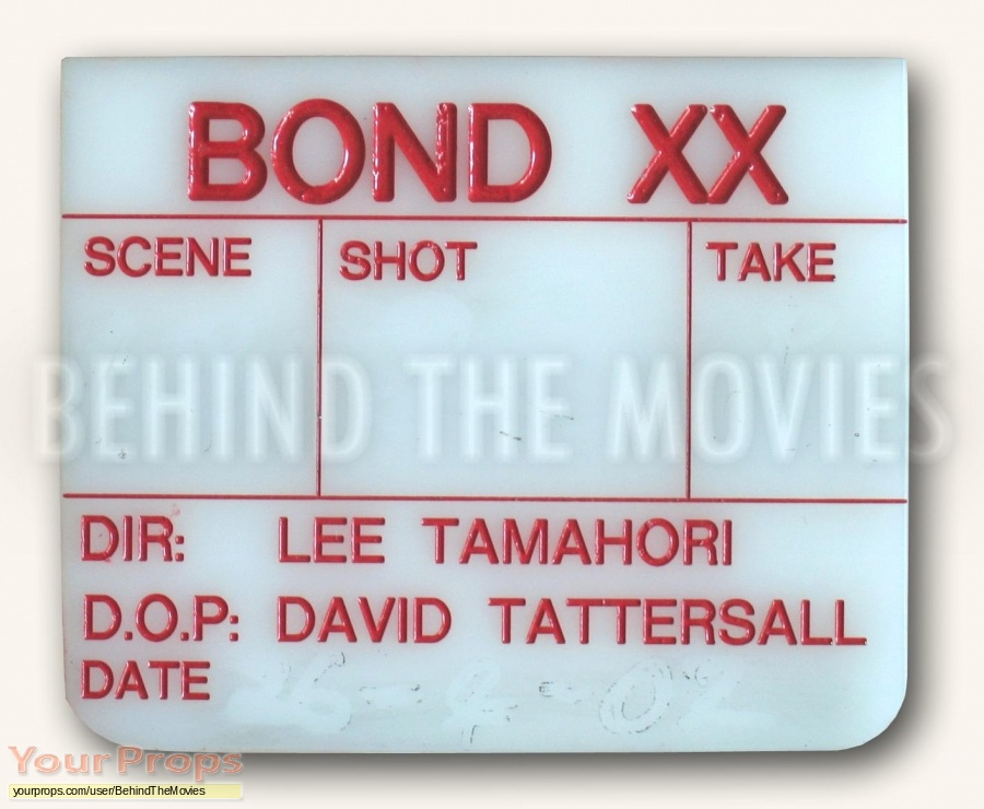 James Bond  Die Another Day original production material