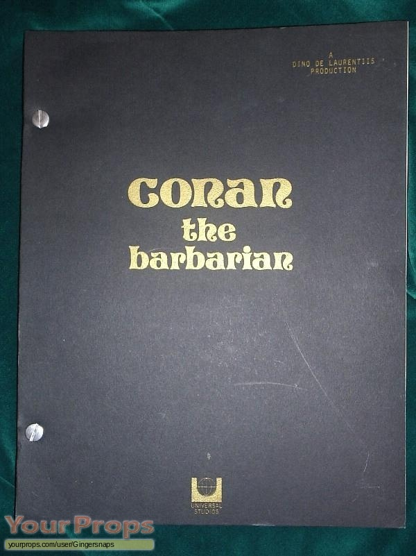 Conan the Barbarian original production material