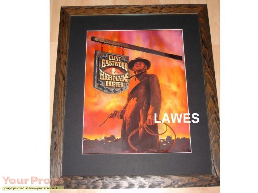 High Plains Drifter original production artwork