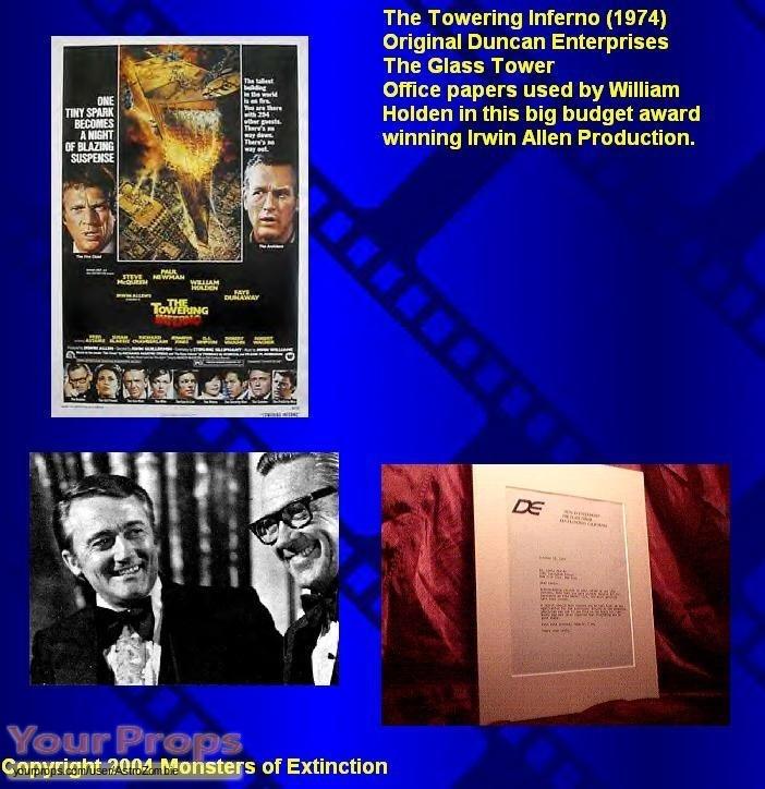 The Towering Inferno original movie prop