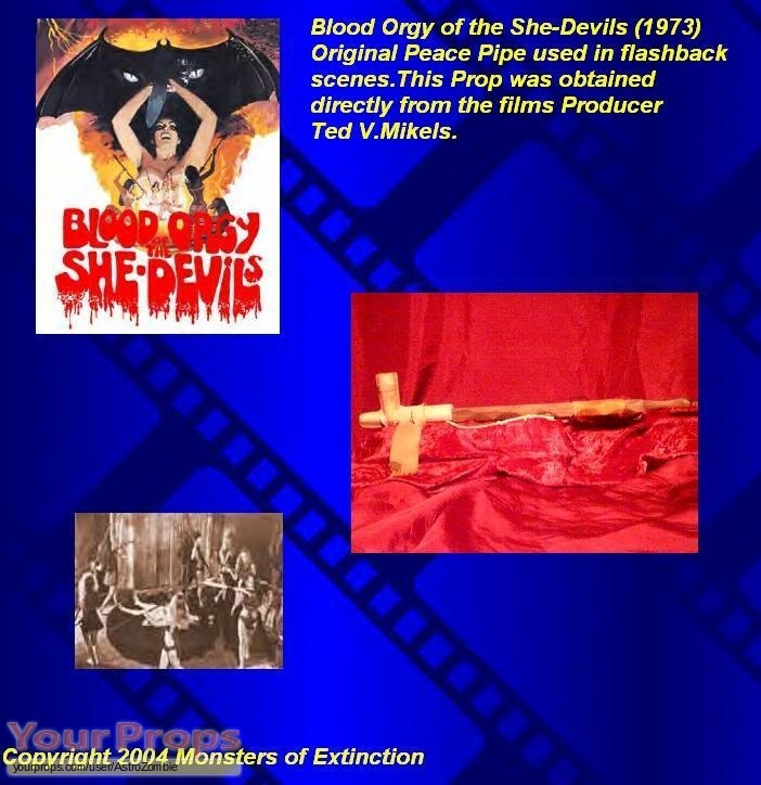 Blood Orgy of the She-Devils original movie prop