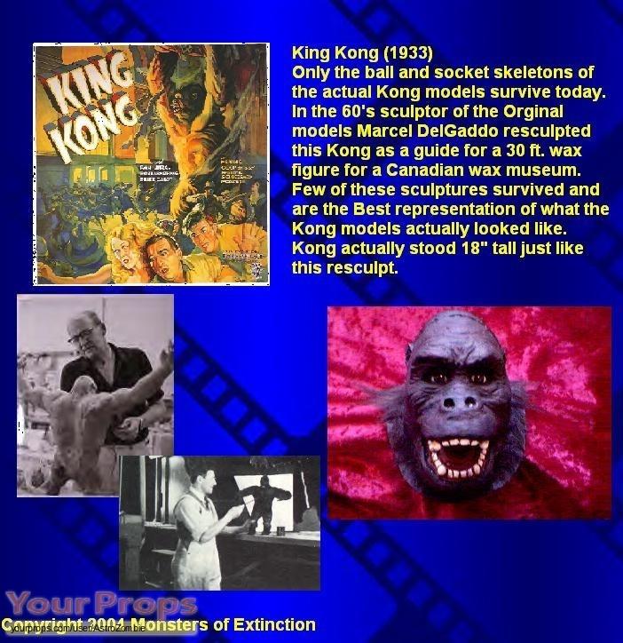 King Kong replica movie prop