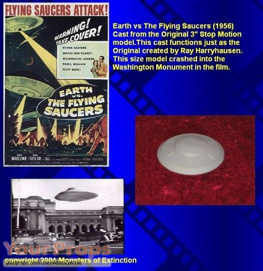 Earth vs  The Flying Saucers replica movie prop