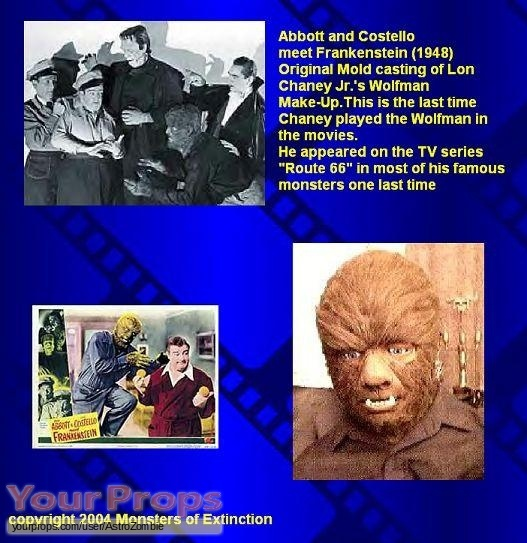 Abbott   Costello Meet Frankenstein replica make-up   prosthetics