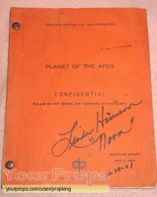 Planet of the Apes original production material