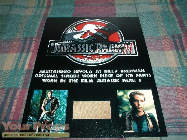 Jurassic Park 3 swatch   fragment movie costume