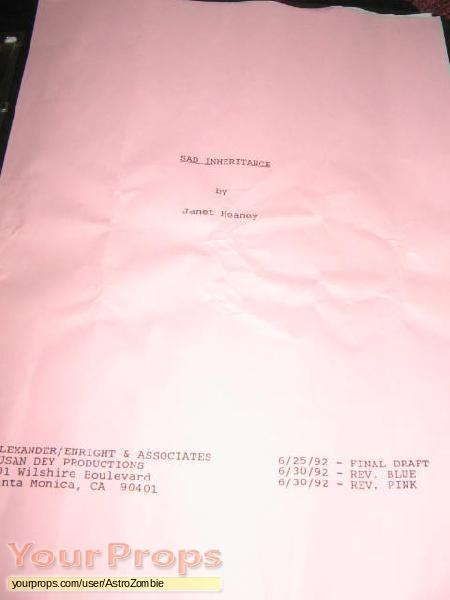 Sad Inheritance original production material
