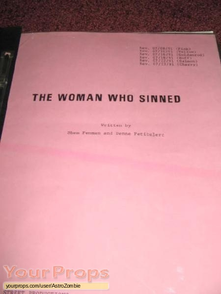 The Woman who Sinned original production material