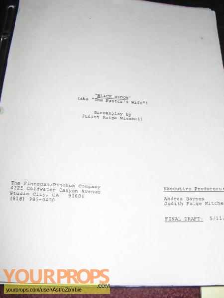 Black Widow Murders  The Blanche Taylor Moore Story original production material