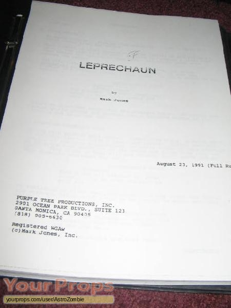Leprechaun original production material