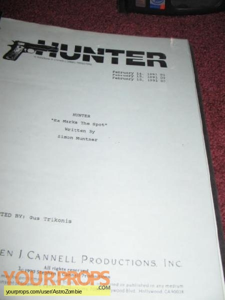 Hunter original production material