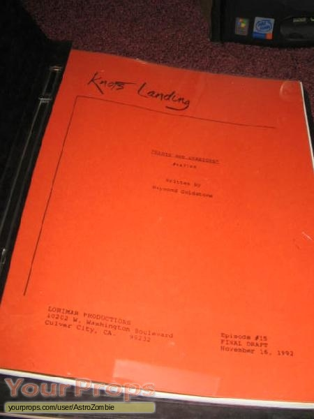 Knotts Landing original production material