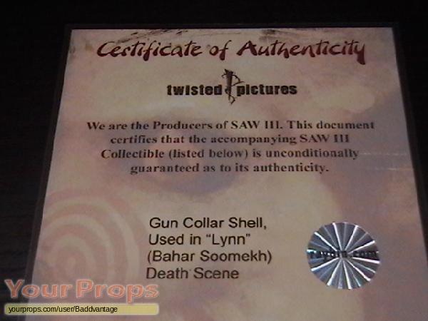 Saw III original movie prop weapon