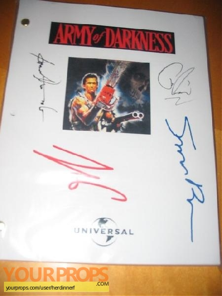 Army of Darkness replica production material