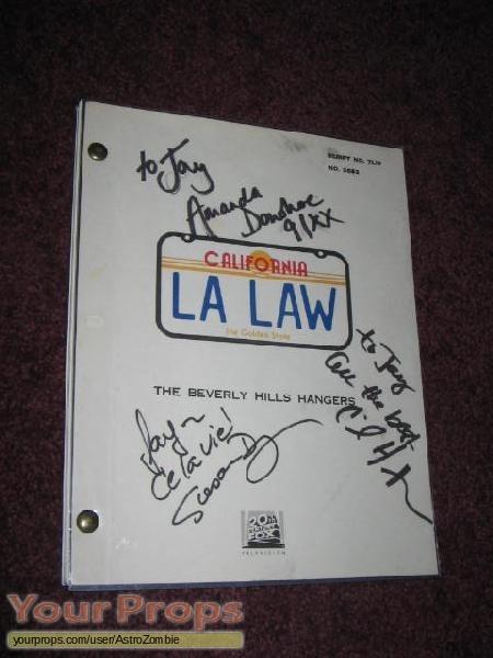 L A  Law original production material