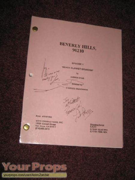 Beverly Hills  90210 original production material