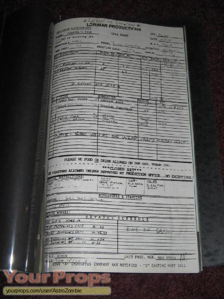 Gabriels Fire original production material