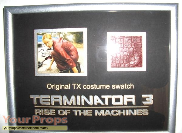 Terminator 3  Rise of the Machines swatch   fragment movie prop