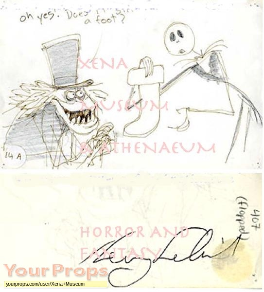 The Nightmare Before Christmas original production artwork