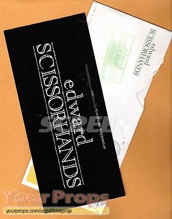 Edward Scissorhands original film-crew items