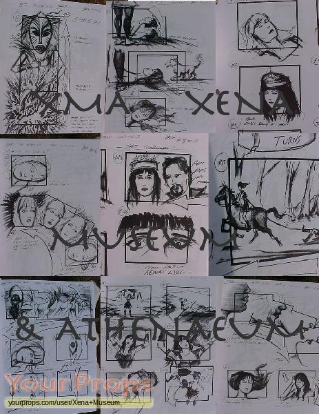 Xena  Warrior Princess replica production artwork