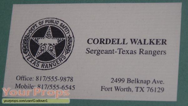 Walker Texas Ranger original movie prop
