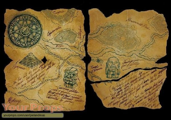 Indiana jones and the raiders of the lost ark raiders map to indiana jones and the raiders of the lost ark replica movie prop gumiabroncs Gallery