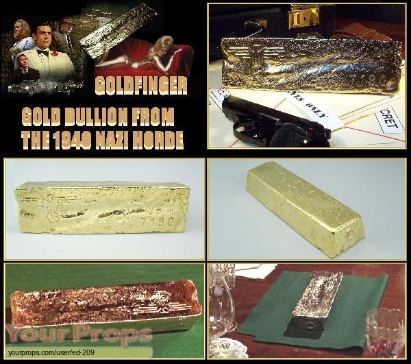James Bond  Goldfinger replica movie prop