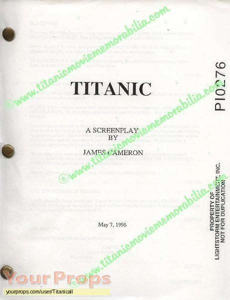 Titanic original production material