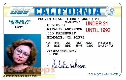 License to Drive replica movie prop