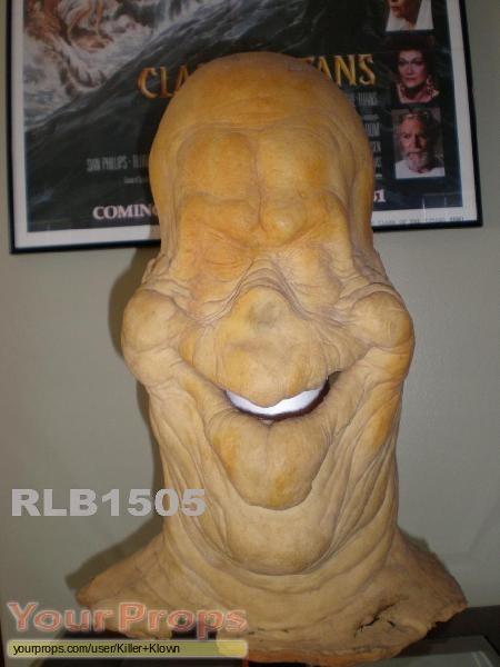 Vintage soft foam rubber halloween jack o lantern screaming face