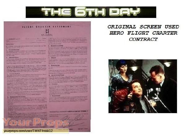 The 6th Day original movie prop