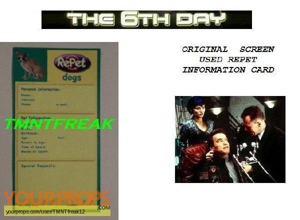 The 6th Day original movie prop