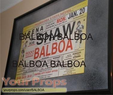 Rocky Balboa replica movie prop