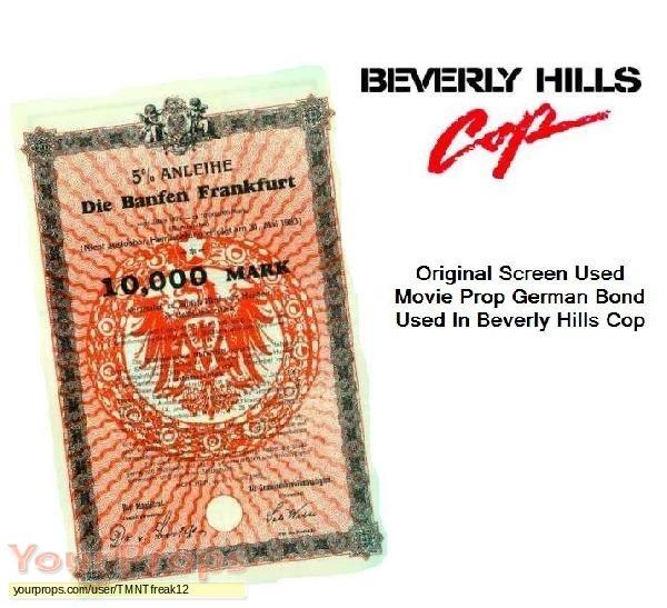 Beverly Hills Cop original movie prop