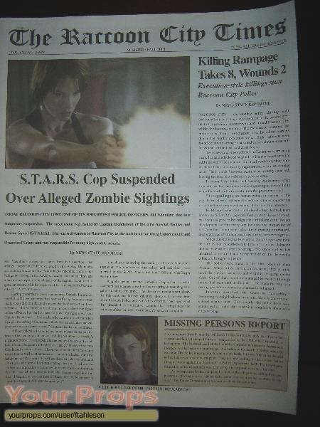Resident Evil  Apocalypse replica movie prop