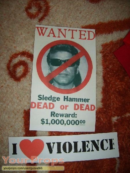 Sledge Hammer  replica movie prop
