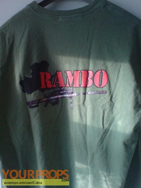 Rambo original film-crew items
