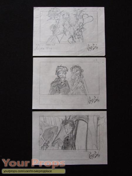 The Corpse Bride  Tim Burtons original production artwork