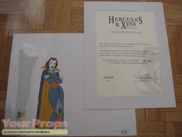 Hercules and Xena - The Animated Movie  Battle For Mount Olympus original production material