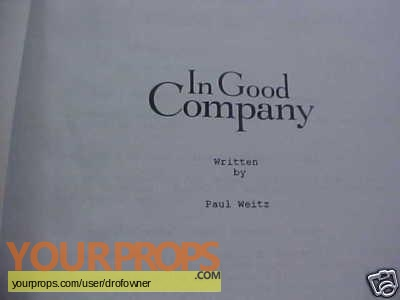 In Good Company original production material