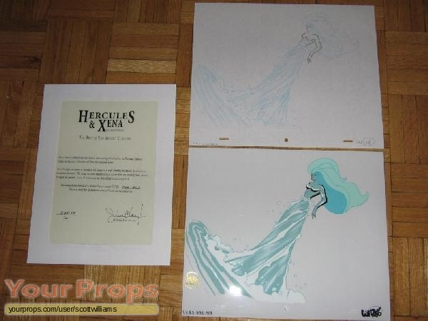 Hercules and Xena - The Animated Movie  Battle For Mount Olympus original production artwork