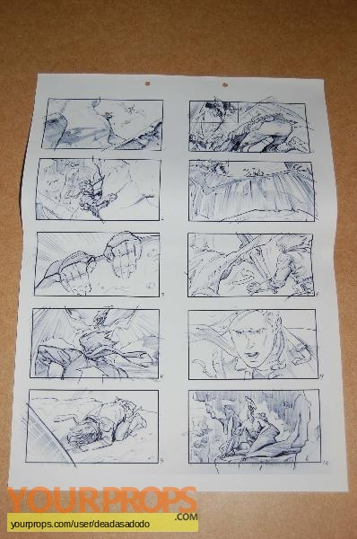 Dinotopia original production artwork