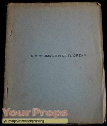 A Midsummer Nights Dream original production material