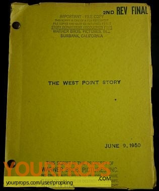 The West Point Story original production material