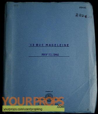 13 Rue Madeleine original production material